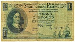 South Africa - 1 Pound - 11.1.1952 - Pick: 93.e - Sign. Dr. M. H. De Kock - Jan Van Riebeeck - South Africa