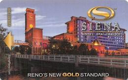 Siena Casino - Reno, NV - Hotel Room Key Card - Chiavi Elettroniche Di Alberghi