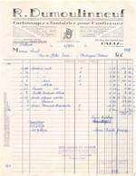 18402  19-0898   1960 CARTONNAGES ET FANTAISIES POUR CONFISEURS R DUMOULINNEUF A PARIS - M. LOUET A TOURS - 1950 - ...
