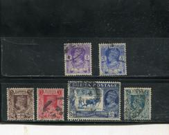 Birmanie 1938-40 Yt 19 20 22 24 27 28 - Burma (...-1947)