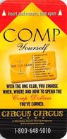Circus Circus Casino - Reno, NV - Narrow Hotel Room Key Card - Chiavi Elettroniche Di Alberghi