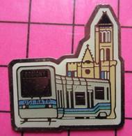 SP01 Pin's Pins / Beau Et Rare / THEME : TRANSPORTS / RATP USI UNION DES SYNDICATS INDEPENDANTS BOBIGNY TRAMWAY - Transportation