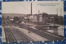 Colombier-Fontaine ( Le Canal Et La Fonderie) Le 02 11 1925.Doubs.france - Otros Municipios