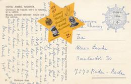 Moorea, Hotel Aimeo, Post Card To Germany-Baden-Baden, 1976 Tonga - Unclassified