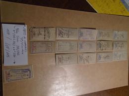 15 Timbres   **FISCAUX REPERTORIES  De La Série N° 312/344** Lire Descriptif  5 Photos Recto/verso - Revenue Stamps