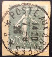 198°1° Poste Aux Armées * 4 * Semeuse 50c Olive Oblitéré 7/9/1926 - 1921-1960: Periodo Moderno