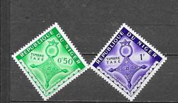 1962 REPUBLIQUE DU NIGER Y&T Nr° 22,23 (**) - Niger (1960-...)