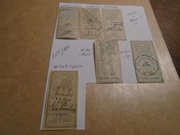 6 Timbres  **FISCAUX REPERTORIES ** COTE =50!! ( N° 276/288/294/260/264/297) ( Lire Descriptif  5 Photos Recto/verso) - Revenue Stamps