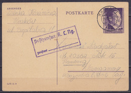 Pologne (Generalgouvernement) - EP CP 12pf Càpt KRAKAU 2 /21.12.1944 Pour HAMBURG - Càd Censure [Postzensur K. L. Ng. …] - Governo Generale