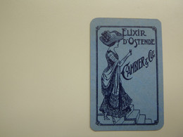Speelkaart ( 2 )  1 Losse Kaart - Reclame - Wijn Vin Likeur Liqueur  Distillerie Stokerij  - Elixir D' Ostende  Oostende - Barajas De Naipe