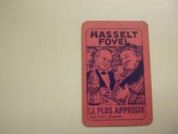 Speelkaart ( 3 )  1 Losse Kaart - Reclame - Wijn Vin Likeur Liqueur  Distillerie Stokerij  -  Hasselt Fovel - Barajas De Naipe
