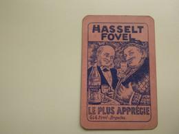 Speelkaart ( 4 )  1 Losse Kaart - Reclame - Wijn Vin Likeur Liqueur  Distillerie Stokerij  -  Hasselt Fovel - Barajas De Naipe