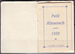 """Mini Calendrier De Poche 1956 Avec Publicité """" Parfumerie Maroquinerie """" Complet - Small : 1941-60"""