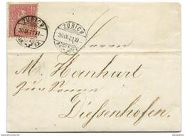 169 - 32 - Enveloppe Envoyée De Zürich 1871 - Covers & Documents
