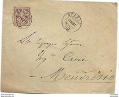 169 - 1 - Enveloppe Avec Superbes Cachets De Stabio 1887 - Covers & Documents