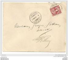 51 - 2 - Enveloppe Suisse Avec Superbes Cachets De Lausanne 1901 - Covers & Documents