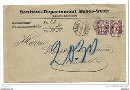 """87 - 53 - Enveloppe """"remboursement"""" Envoyée De Basel 1902 - Covers & Documents"""