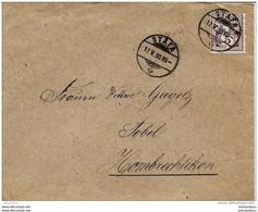 87 - 28 - Enveloppe  Avec Superbes Cachets à Date De Stäfa 1890 - Covers & Documents