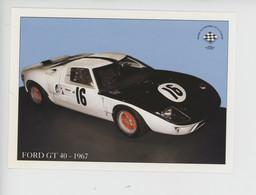 Ford GT 40 - 1967 Remporte Les 24 H Du Mans En 1968 & 1969 (cp Vierge) - Le Mans