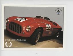 Ferrari 166 MM 1949  - N°22 Musée Circuit 24 Heures Du Mans  (cp Vierge) - Le Mans