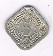 5 CENTS  1943 SURINAME /3737/ - Surinam 1975 - ...