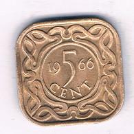 5 CENTS  1966 (mintage 400000 Ex) SURINAME /3739/ - Surinam 1975 - ...