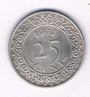 25 CENTS  1962 SURINAME /3741/ - Surinam 1975 - ...