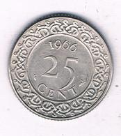25 CENTS  1966 SURINAME /3742/ - Surinam 1975 - ...