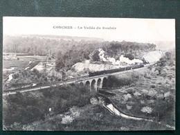 27, Conches ,passage Du Train Dans La Vallée Du Rouloir En 1911 - Conches-en-Ouche
