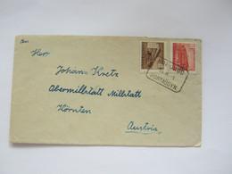 1954 , Brief Mit Bahnpoststempel Nach Österreich - Briefe U. Dokumente