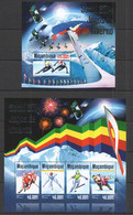 ST2392 2014 MOZAMBIQUE MOCAMBIQUE SPORT WINTER OLYMPIC GAMES SOCHI 2014 KB+BL MNH - Invierno 2014: Sotchi
