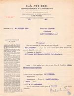 18401  2843    1938   FACTURE  LA MURE A GRENOBLE - M.CHAGNON A SAINT DESIRE - 1900 – 1949