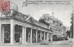 ITALIE- 1913 - STRESA VIA PRINCIPE UMBERTO -  ARTICOLI KODAK - Altre Città