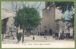 CPA Colorisée Peu Courante - VAUCLUSE - PERTUIS - PLACE DU 4 SEPTEMBRE - Animation, Commerces - édition E. Lacour / 1515 - Pertuis
