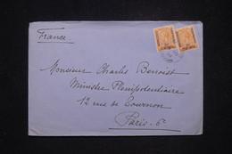 MAROC ANGLAIS -  Enveloppe De Larache Pour Paris En 1933, Affranchissement Surchargés - L 97012 - Bureaux Au Maroc / Tanger (...-1958)