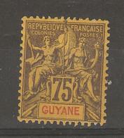 Guyane - Française - (1892) 75c  N° 40 Neuf - Zonder Classificatie