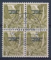 HELVETIA - Dienstmarken/Timbres De Service: S.D.N.- Mi Nr 70 (Viererblock) - Gest./obl. - Dienstzegels