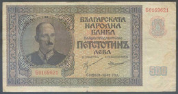 Ref. 6828-7334 - BIN BULGARIA . 1942. BULGARIA 500 LEVA 1942 - Bulgarije