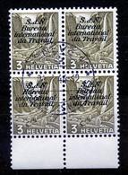 Dienstmarken/Timbres De Service: B.I.T .- Mi Nr 39y (Viererblock) - Gest./obl. - Dienstzegels