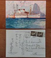 Italia Flotte Riunite Genova Principessa Giovanna Principessa Maria Viaggiata 1935 (CCU) - Piroscafi
