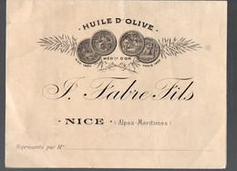 Nice (06 ALpes Maritimes) Facture FABRE FILS (huile D'olive En Gros)   Pas De Date  (PPP28694) - Unclassified
