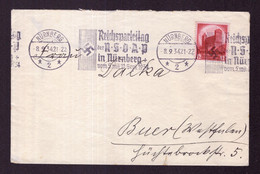 DR Brief NÜRNBERG - Buer - 8.9.34 - Mi.547 - Reichsparteitag Der NSDAP In Nürnberg - Covers & Documents