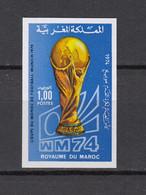 Football / Soccer / Coupe Du Monde 1974 :  Marokko  1 W **, Imperf. - 1974 – Alemania Occidental