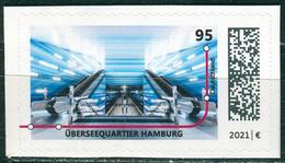 BRD - Mi 3607 Gestanzt Aus FB 106 ✶✶ # -  95C  U-Bahn-Stationen: Überseequartier Hamburg Ausgabe 06.05.2021 - Unused Stamps