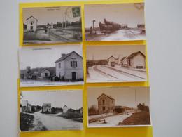 Photo ,TRAMWAY Et Gares Du MORBIHAN Collection Bourneuf , Muzillac ,Plouay ,,La Trinité   ...... - Trenes
