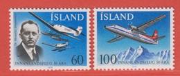 1978 **Islande  (sans Charn., MNH, Postfrish)     Yv  485/6Mi  532/3FA  569/70 - Nuevos