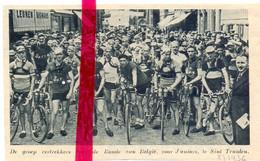Orig. Knipsel Coupure Tijdschrift Magazine - Sint Truiden - Koers Wielrennen Cyclisme, Ronde Van België - 1936 - Unclassified