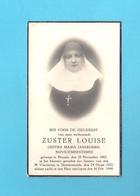 DOODSPRENTJE  ZUSTER LOUISE -JUFFER MARIA JANSEGERS-NOVICEMEESTERES(°HASSELT1882+ DENDERMONDE 1944)(2 Scans)(DV 613) - Avvisi Di Necrologio