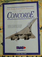 CONCORDE  -- Les Plus Fabuleux Voyages En Concorde - Catalogue TAAG Automne Hiver 1987 - Otros
