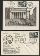 N° 1026 (x2) JULES VERNE Cote 40 € Sur Enveloppe Premier Jour Nantes 3/6/1955 - 1950-59